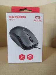 Mouse óptico 1000 Dpi USB ms-35 C3tech Preto NOVO