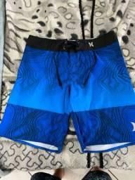 Bermuda azul 44 elastano