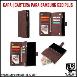 Capa Carteira Para Samsung Galaxy S20 Plus (Cor Vinho)