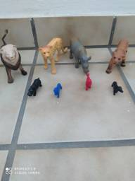 Kit 8 bonecos Miniatura animais selvagens