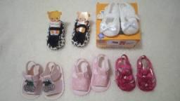 Lote calçados bebê menina Tamanho 13