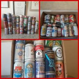Coleção de lata de cerveja