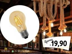 Título do anúncio: Lâmpada A60 Led Retrô de Filamento - Super oferta - seu ambiente com elegância!!!