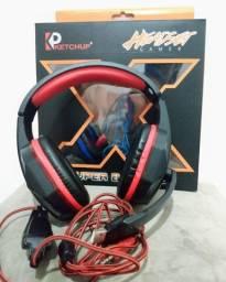 Headset gamer Led katchup
