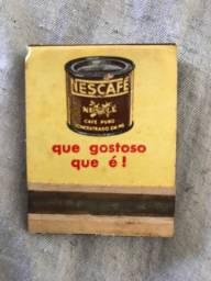 Caixa de Fósforo Antiga - Nescafé