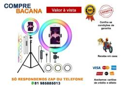 Título do anúncio: Ring Light Luz Rgb Colorida 26cm 10 Polegadas + Tripé 2.10m