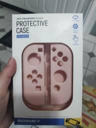 Título do anúncio: Cases Nintendo Switch - Acrílica transparente - Rosa emborrachada
