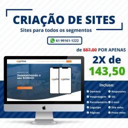 Criação de Site + Domínio + Hospedagem [SC]