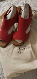 Sandália salto bloco Juliana Beltrão, tamanho 36