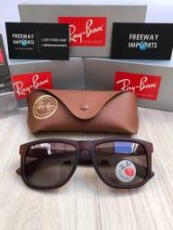 Óculos de sol Ray ban Justin marrom polarizado