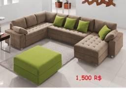 Sofa L (100% novo)