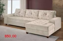 Sofa 2 Lugares + chaise(100% novo)