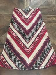 Saia Zara Woman Midi de Lã