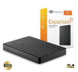 HD Externo Seagate 1 TB Portátil + 3 Brindes - USB 3.0 - PS4 - Xbox - PROMoção