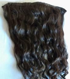 Vendo aplique de cabelo humano natural cacheado
