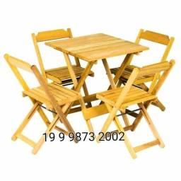 Mesa e Cadeiras Dobrável