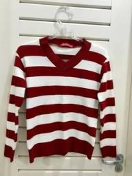 Casaco/suéter listrado Dudalina