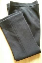 Calça preta de lã pura Tam 42