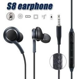 Fone de Ouvido Com Fio Reprodução de Músicas Android celular IPhone