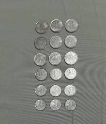 Coleção de Moedas antigas de 1994