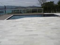 Pedra São Tomé Branca Natural Legítima Piso Piscina Calçada Promoção DoMeuGosto