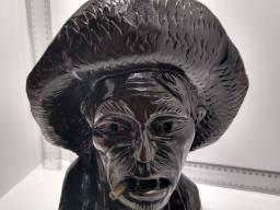 Escultura Busto Madeira Antigo