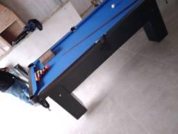 Título do anúncio: Mesa Charme de 4 pés Tecido Azul Mod. 570TI0UO