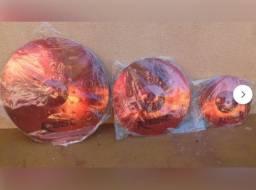 Promoção!! 2 Pratos Krest Vermelhos Novo lacrados!! Brinde Splash 8 Novo!!