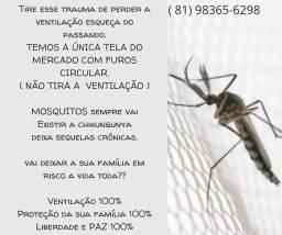 Proteja seu bebê, telas mosquiteiras