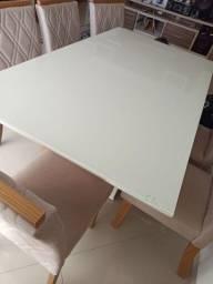 Tampo de madeira + tampo de vidro 1,65x0,90