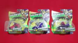 3 carrinhos tartarugas ninja T-machine