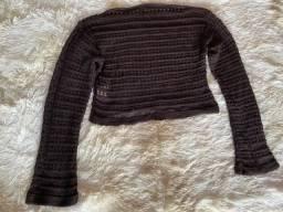 Título do anúncio: Cropped tricô marrom