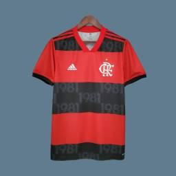 Camisa Flamengo I 21/22 s/n° Torcedor Adidas Masculina - Premium