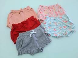 Lote com 5 shorts infantis