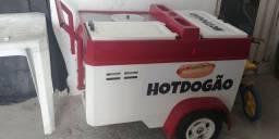 Carrinho de Hot Dog em fibra