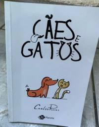 Cães e Gatos Livro/gibi muito legal para crianças