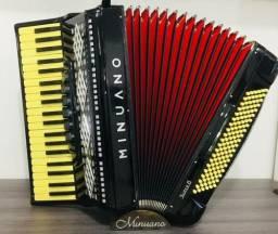 Sanfona acordeon Minuano super 6 120 baixos