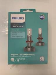 Lâmpadas LED Philips Ultinon H8 H11 H16 na caixa