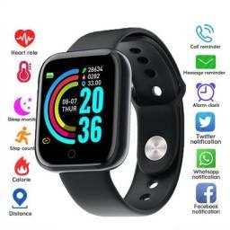 Y68 D20 Smart Watch com Bluetooth USB com Monitor Cardíaco PK W26 X7