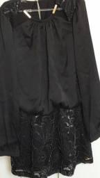 Vestido preto Joy Morena Rosa