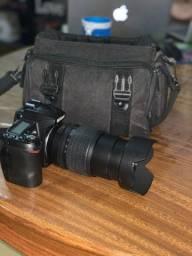 Câmera Nikon D90 + Lente + Todos Acessórios