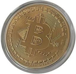 Título do anúncio: Moedas de Bitcoin Dourada