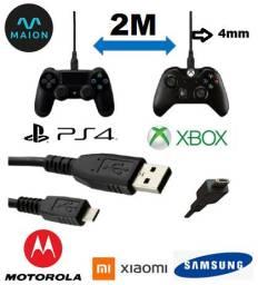 Cabo Ps4 e Xbox do controle,Resistente grosso 4mm Orignal com garantia (esta na oferta)