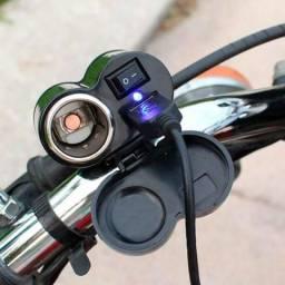 Tomada Usb para Motos, Carregue a bateria de seu Celular ou gps em sua moto
