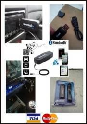 Seu Som Não Tem Bluetooth? Adaptador Usb P2 Bluetooth Carro, Som, Diversos Dispositivos