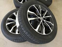 Roda corolla c/ pneu zero pirelli p7