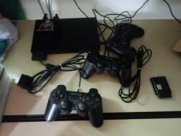 Play station 2 com 23 jogos