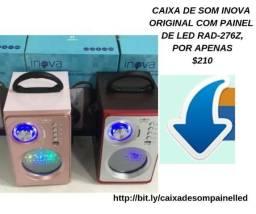 Caixa De Som Inova Original Com Painel De Led Rad-276z
