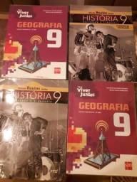 Livros 9 ano de Geografia e História