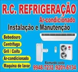 Trabalho com manutenção de ar condicionado e máquinas de lava